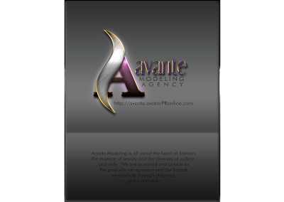 Avante Modeling Agency One Page Ad