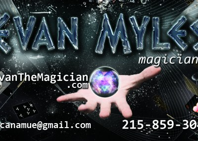 Logo and Business Card for Magician Evan Byrne