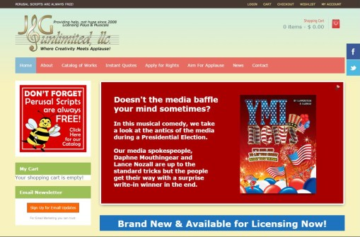 Website for Theatrical Licensing Firm