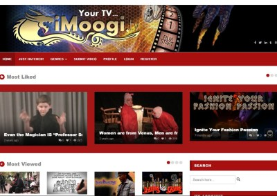 iMoogi TV Website