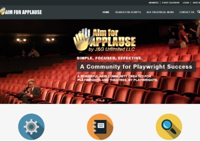 Aim for Applause Website