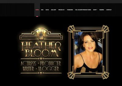 Actress Heather Bloom Website