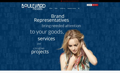 Boulevard Modeling Agency Website