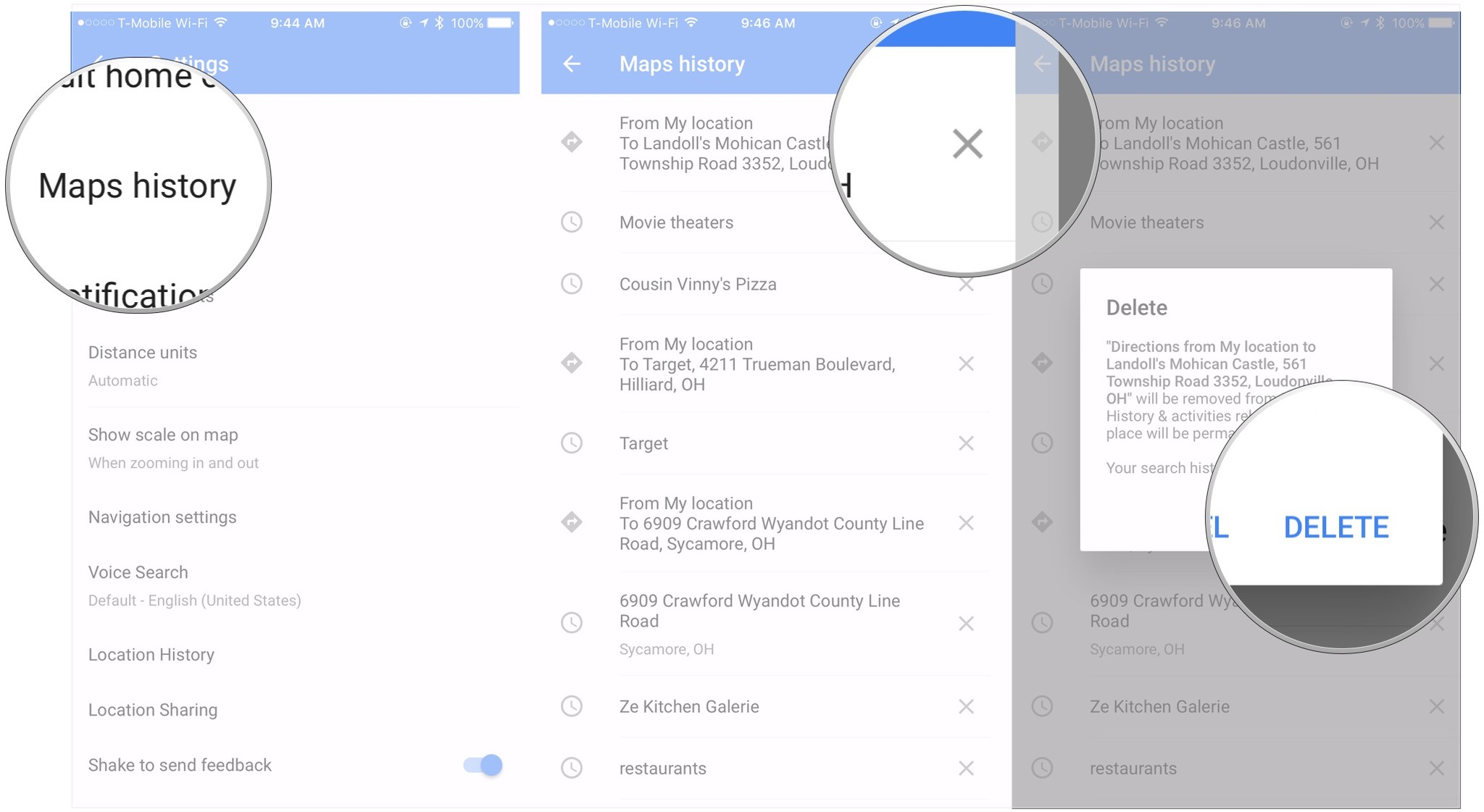How To Delete Your Search History And Prior Destinations