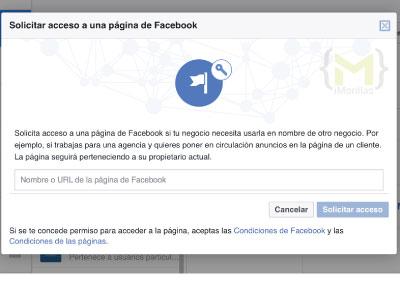 Solicitar Acceso a una Página de Facebook desde el Administrador comercial