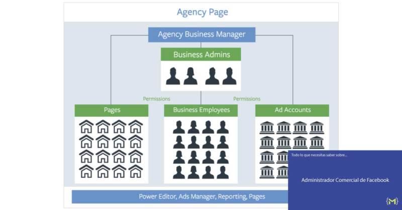 Página de Agencia - Facebook Administrador comercial