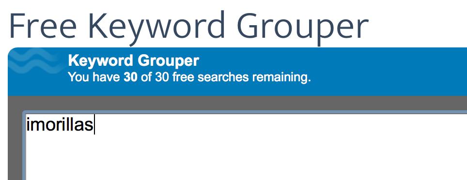 Free Keyword grouper
