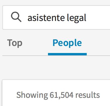 Asistente Legal en LinkedIn