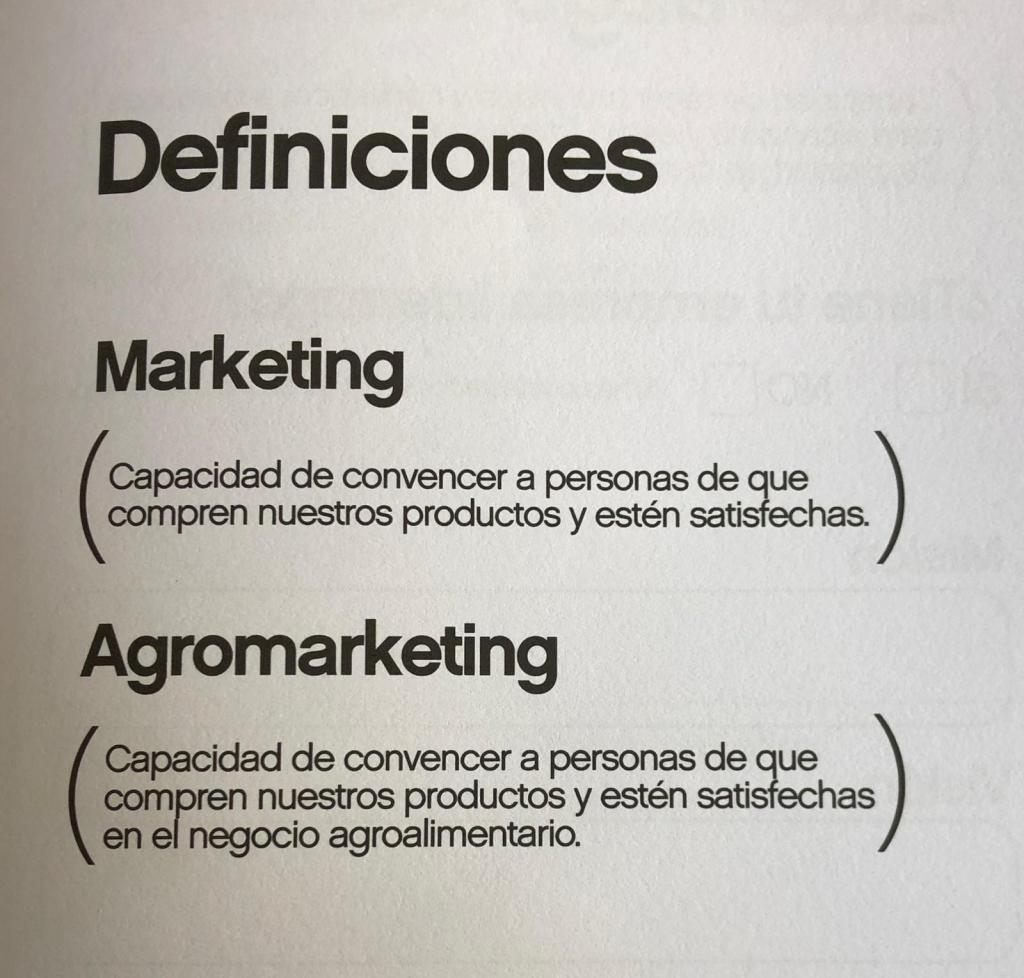 Manual de Marketing - Agromarketing - definiciones