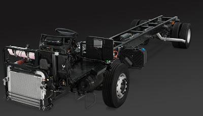 scania mesin depan chassis