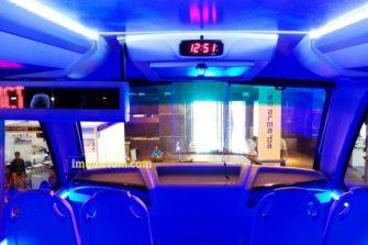 Dilengkapi juga dengan TV LED dan Running Text di sisi kiri depan.