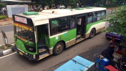 Galeri Foto Aksi Demo Angkutan Umum Di DKI Jakarta 22 Maret