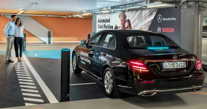 Mercedes-Benz automated valet service couple