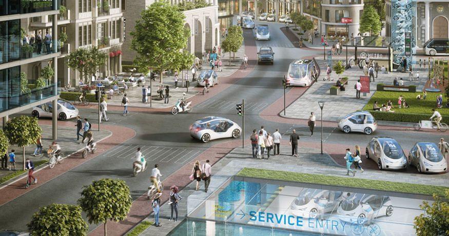 Bosch Urban Mobility scene