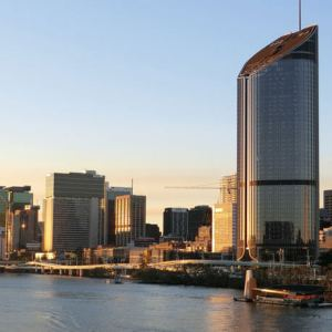 Brisbane city and river