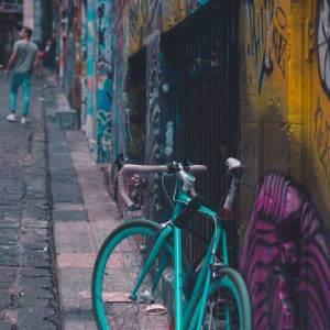 bicycle, Hosier Lane, Melbourne