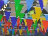 lots of bunting flags