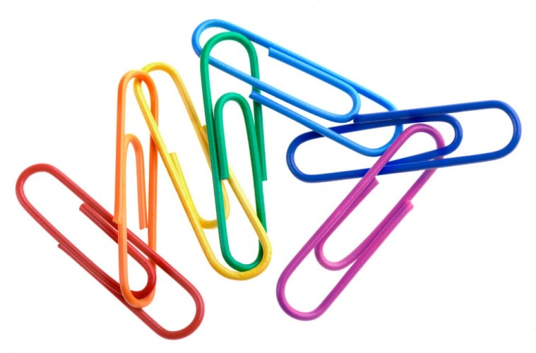 some colored paper clips