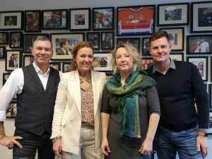 Foto van Leendert-Jan Visser, Jose Komin, Jacqueline Scheidsbach en Glenn van der Burg