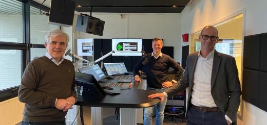 Foto van Peter Paul Weeda, Glenn van der Burg en Huibert Baud