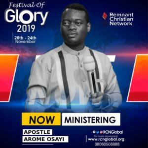 Apostle Arome Osayi Ministrations || FESTIVAL OF GLORY 2019