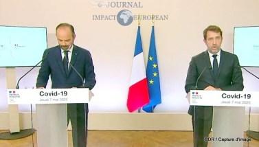 Edouard Philippe (Premier ministre) et Christophe Castaner (ministre de l'intérieur)