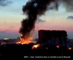 L'explosion dans un entrepôt au port à Beyrouth 3