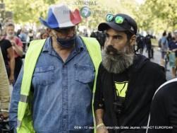 Jérôme Rodrigues à la manifestation des Gilets Jaunes du 12 septembre 2020 à Paris