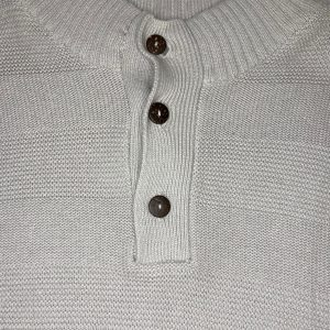 Iko Button Up Sweater (Lunar Rock)