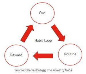 The Habit Loop: Cue-Routine-Reward