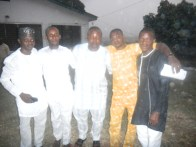 L-R, Kunle Adelabu, Abbey Shitta, Hassan Onabote, Segun Benjamin and Shakiru