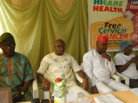 L-R, Mr Shakiru Seidu, the reresentative of Speial Adviser on Arts & Culture, Lagos State and Hon. Obayemi at the event