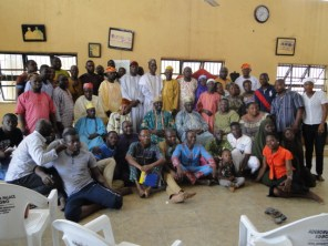 The Kingmakers, candiadates and members of the Ijaolu Ruling House in group photograph after the screening