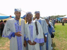 Raheem and other students of the department of Mass Communication during the procession