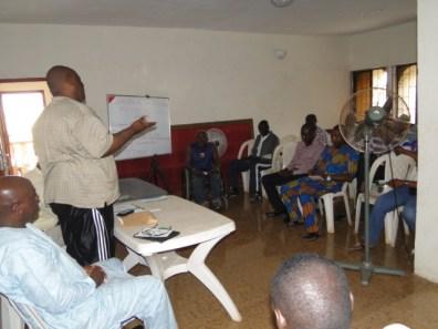 The Convener, Barrister Nurudeen Ogbara addressing the gathering