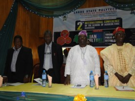 R-L, Prof. Jagun, Mr Sogunro, Prof. Dairo and another speaker, Dr Adekunle Akaani