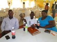 R-L, Aderoju Ladega, Kunle Adelabu and Ganiu Hameed at the event