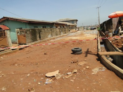 Alhaji Oseni street being constructed by Consteng Limited