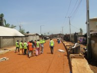Members of the Ikorodu Ambassadors Group inspecting Kola Ogunkoya Street, Igbogbo