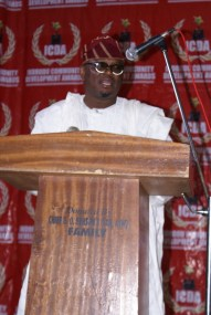 The Majority Leader, Lagos State House of Assembly, Hon. SOB Agunbiade delivering his keynote address