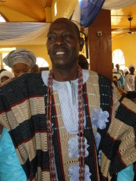 High Chief Tajudeen Alade Duduyemi Onasanya, the Odofin of Igbogbo and the first and only son of the deacesed during the Outing service