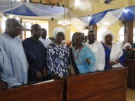 Members of the Lagos State Executive Council in group photograph with Hon Akinsola during the Service