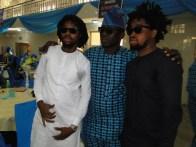 Newly sworn-in DG, Hon Azeez Jimog Olosugbo with Faboo and Qdot