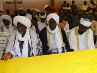 Grand Chief Imam, Ikorodu Division, Alhaji Shefiudeen Olowooribi and other Islamic clerics at the event