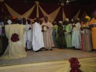 Commissioner Ogunleye presenting 'Most Outstanding Community Development Advocate' to Alhaji Lukman Shonibare