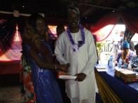 Presentation of certificate
