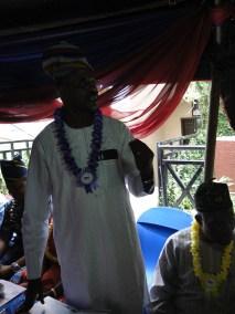 Chairman/CEO, UEC College, Ikorodu, Otunba Saheed Ibikunle during his speech at the graduation ceremony