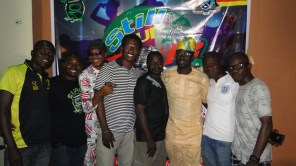 Friends celebrating the sucess of the concert with Suave Director, Bashexy