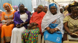 L-R, Hon. Omowunmi Olatunji-Edet,Yeye Agunbiade, a guest and Olori Shotobi at the burial ceremony