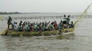 Boat display on water during the 2017 Liwe Festival in Ebute-Iga (file pic)